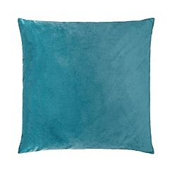 Home Collection - 60 x 60cm dark teal velvet cushion