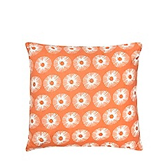 Home Collection Basics - Orange circle print cushion