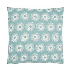 Home Collection Basics - Light turquoise circle print cushion