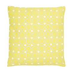 Home Collection Basics - Yellow circle print cushion