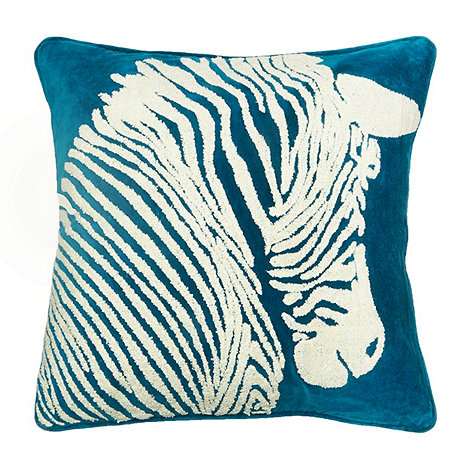 abigail-ahern-edition - Dark turquoise zebra cushion