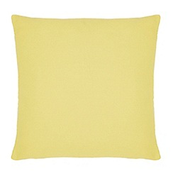 Home Collection Basics - Yellow textured cushion