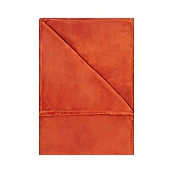 Home Collection Basics - Orange fleece throw