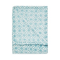 Home Collection Basics - Aqua circle print throw