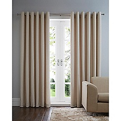 Home Collection Basics - Natural cotton eyelet curtains