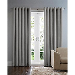 Home Collection Basics - Light grey cotton eyelet curtains