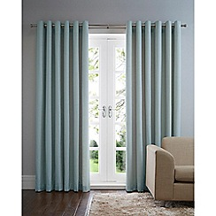 Home Collection Basics - Duck egg cotton eyelet curtains