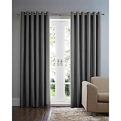 Home Collection Basics - Dark grey cotton eyelet curtains