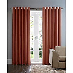 Home Collection Basics - Orange cotton eyelet curtains