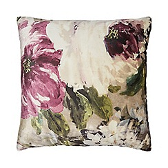 Home Collection - Multi-coloured floral velvet cushion