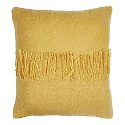 Home Collection - Mustard faux mohair cushion