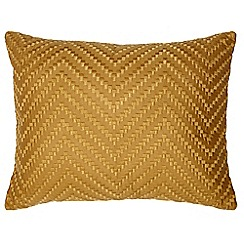 Home Collection - Dark yellow geometric embroidered cushion