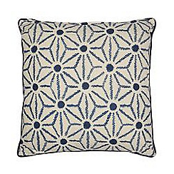 Home Collection - Blue reversible schibori cushion