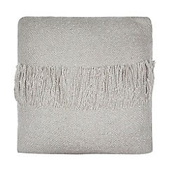 Home Collection - Silver faux mohair cushion