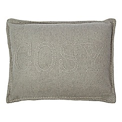 Home Collection - Grey 'Hygge' applique cushion