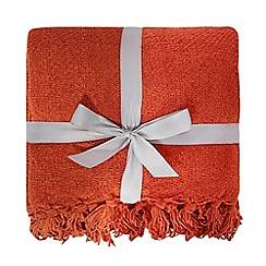 Home Collection - Orange chenille throw