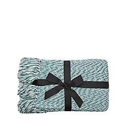 Home Collection - Light turquoise knitted throw