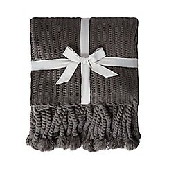 Home Collection - Grey knitted throw