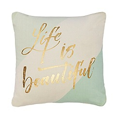 Home Collection - Multi-coloured 'Cosmo - Life Is Beautiful' cushion