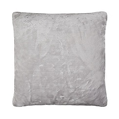 Home Collection - Grey faux fur cushion