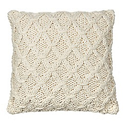 Home Collection - Natural cable knit cushion