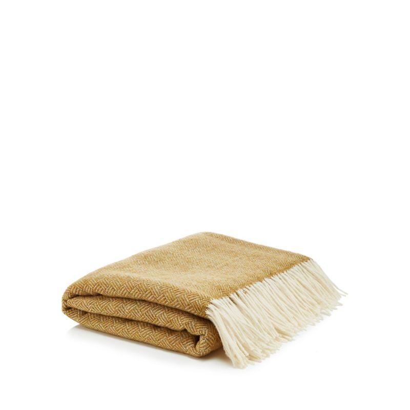 Bronte by Moon - Gold Merino Wool Throw