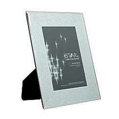 Star by Julien Macdonald - Designer silver mirror glitter lines photo frame