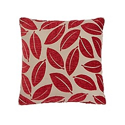 Debenhams - Red leaf cushion