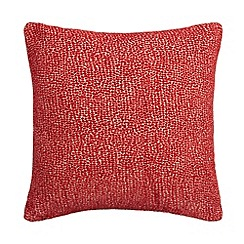 Debenhams - Red textured cushion