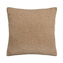 Debenhams - Natural textured cushion