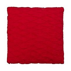 Debenhams - Red diamond pleated cushion