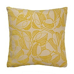 Debenhams - Lime leaf print cushion