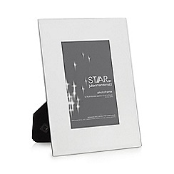 Star by Julien Macdonald - Silver glass hammered trim photo frame