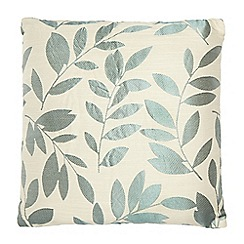 Debenhams - Turquoise leaf embroidered cushion