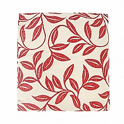 Debenhams - Red chenille leaves cushion