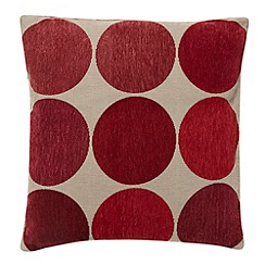 Debenhams - Red large spotted cushion