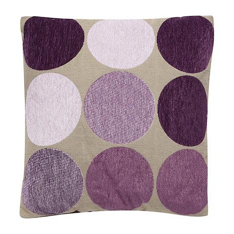 Debenhams - Purple large spotted cushion