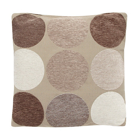 Debenhams - Natural large spotted cushion