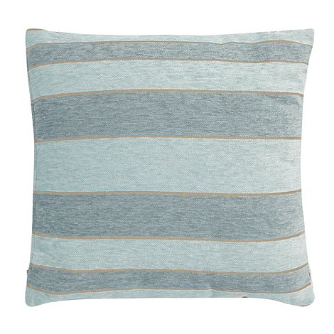 Debenhams - Pale blue +solid stripe+ cushion