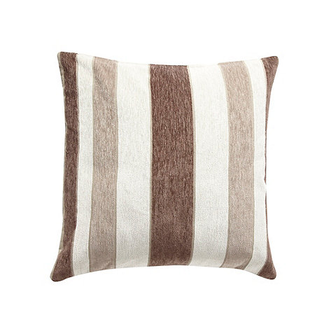 Debenhams - Natural striped cushion