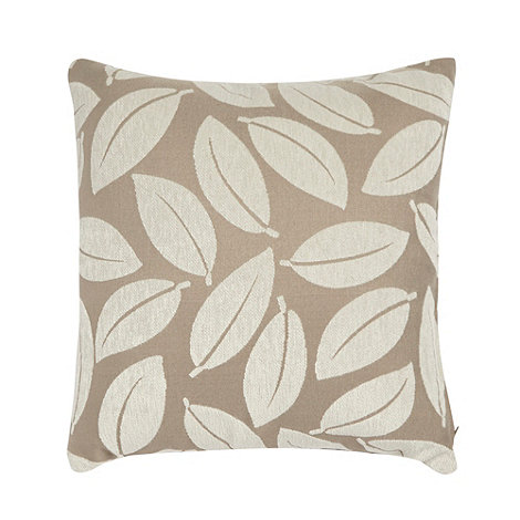 Debenhams - Natural leaf cushion