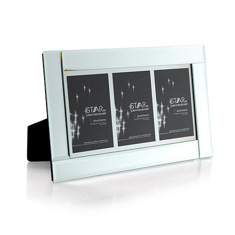 Star by Julien Macdonald - Designer mirror triple photo frame