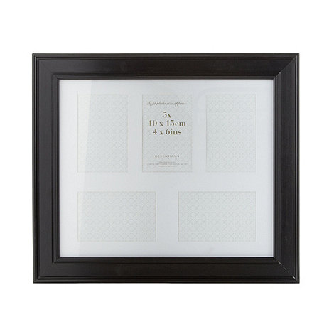Debenhams - Black moulded multi aperture photo frame