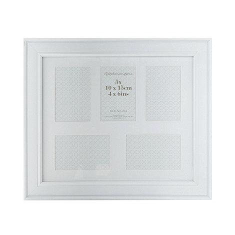 Debenhams - White multi aperture photo frame