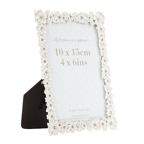 Debenhams - Metal flower photo frame
