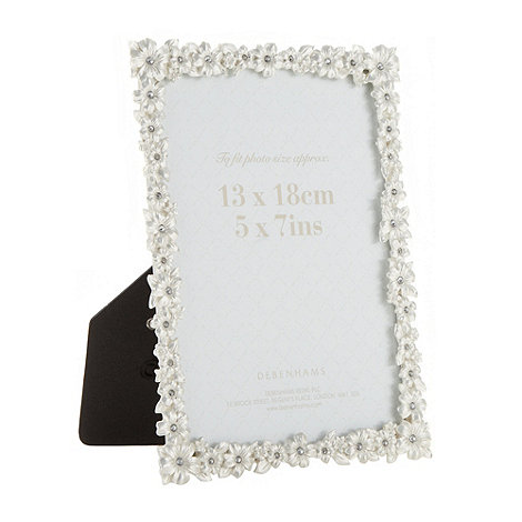 Debenhams - Metal flower 5x7 inch photo frame