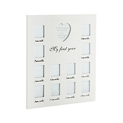 Debenhams - White 'My First Year' multi photo frame
