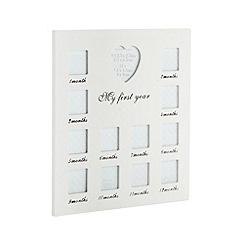 Debenhams - White 'My First Year' multi photo frame
