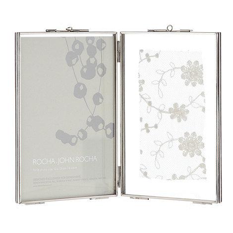 RJR.John Rocha - Designer silver metal double aperture photo frame