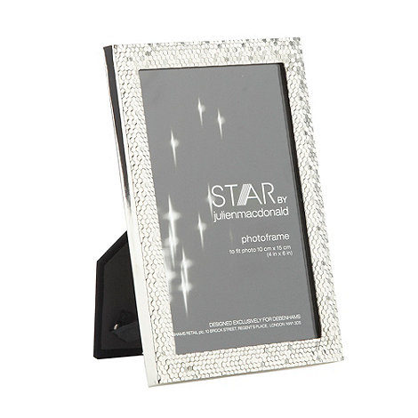 Star by Julien Macdonald - Designer metal faceted photo frame